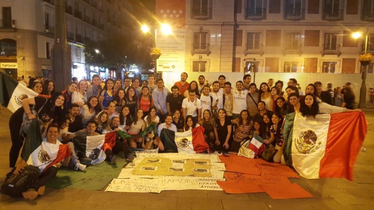 Mexicanos recaudan apoyo desde Madrid